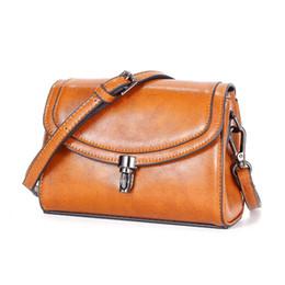 Clamshell Purse Australia - Genuine Leather Clamshell Versatile Crossbody Bag Women One-Shoulder Bag Purse