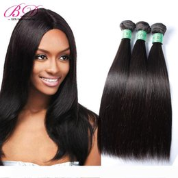 black weaves Canada - BD Silky Straight Human Hair Extensions Malaysian Human Hair Weave Natural Black Double Layers 3 4 Bundles One Set
