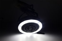 $enCountryForm.capitalKeyWord Australia - Smart And Compact Electric Fan Lamp LED Trinity Tent Light Practical Universal Camping Lamps Rechargeable Plastic Power Saving 32hrI1