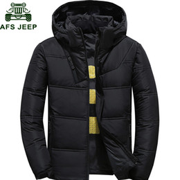 Wholesale warm thermals for sale - Group buy 2020 Winter Jacket Men Thermal Thick Down Coat Snow Parka Male Warm Outwear Doudoune homme ultralight White Duck Down Jacket Men