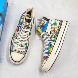 $enCountryForm.capitalKeyWord Australia - 1970 White Canvas Shoes Mens 2018 Star Brand Deisgner Brand New High Low TOP Quality Womens Casual Shoes With Original Box
