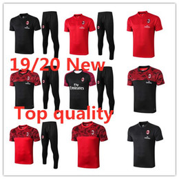 american football suit Australia - 2020 Summer Men's Tracksuits Milan soccer short sleeve Sportswear IBRAHIMOVIC PIATEK Adult polo football jogging training suit S-2XL