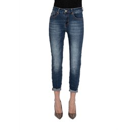Wholesale My will jeans Blue high elastic back pocket Mouse print JEANS made in china