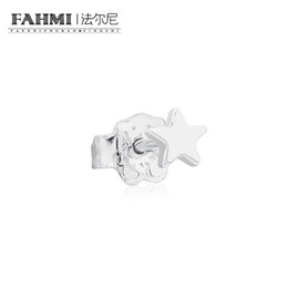 Moonstone diaMond online shopping - FAHMI Sterling Silver Retro Charming Five Pointed Star Stud Earrings Charm Women Elegant Jewelry Birthday Gift