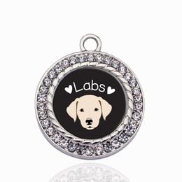 $enCountryForm.capitalKeyWord Australia - LAB LOVER CIRCLE CHARM Copper Pendant For Necklace Bracelet Connector Women Gift Jewelry Accessories