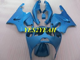 kawasaki zx7r bodywork 2019 - Motorcycle Fairing body kit for KAWASAKI Ninja ZX-7R ZX7R 1996 2003 ZX 7R 96 97 02 03 Blue Fairings bodywork+gifts KZ10