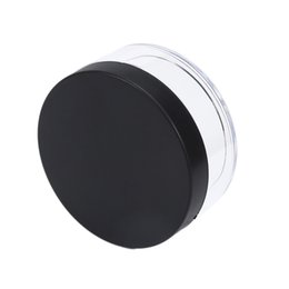 China Portable Plastic Empty Loose Powder Pot With Sieve Cosmetic Makeup Jar Container Handheld Portable Sifter with Black Cap 50g cheap powder sifter caps suppliers