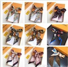 Опт 2018 Лучший дизайнер бренда супер мягкий шелк двойной атласной лентой многофункциональный платок галстук-бабочка бесплатная доставка