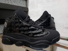 $enCountryForm.capitalKeyWord Canada - Latest 13 Cap and Gown All Black Men Basketball Shoes Good quality patent leather 414571-012 Cheap Mens Outdooe Designer Trainer