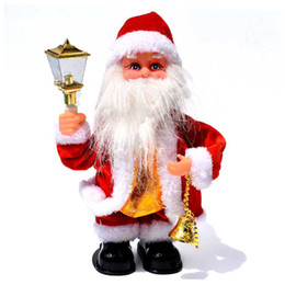 old movie decorations UK - MrY Christmas Electric Old Man Music Old Man Christmas Dolls Toy Children Toys New Year Decorations For Home New
