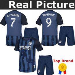 Kids Navy Shirts Australia - LA Galaxy 2019 IBRAHIMOVIC 19 20 Home white Away soccer Jersey kids youths GERRARD KAMARA Navy GIOVANI BECKHAM childs football shirts