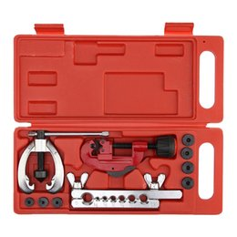 $enCountryForm.capitalKeyWord Australia - Heat Treated Steel, metal Tube Cutter Brake Fuel Pipe Repair Double Flaring Die Tool Set Clamp KitFor Cutting And Flaring
