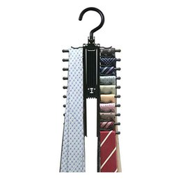 $enCountryForm.capitalKeyWord Australia - Clown Of Clothes Rack Tie Hanger Belt Hanger Tie Holder Clothing Necktie Hanger Storage Rotatable Indoor Hanging 20 Rows