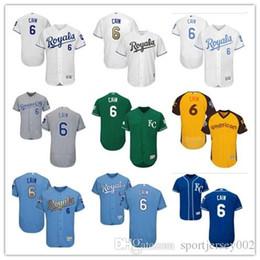 17e3bb23 Kansas City 2019 Men's Women's Youth Royals 6 Lorenzo Cain Majestic Black Alternate  Authentic Flex Base Custom Baseball Jerseys