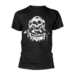 Punk Skull Shirt Australia - Official DISCHARGE 3 Skulls T Shirt Punk New Rock Band Black Tee All SizesFunny free shipping Unisex Casual Tshirt