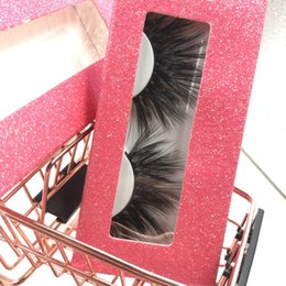 $enCountryForm.capitalKeyWord Australia - Faux Mink 25mm Full Strip Eyelashes with Pink Glitter Box Custom Logo Wholesale Lashes Vendor FDshine
