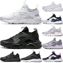 $enCountryForm.capitalKeyWord UK - Men Huarache I Running shoes Men Women Sports Shoes Triple Black White Gold Huraches 1.0 Women Outdoor Trainer Sneakers US 5.5-11