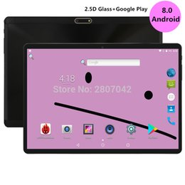 Tablet Inch 4g NZ - 2019 Tempered 2.5D Glass 10 inch Octa Core 3G 4G FDD LTE Tablet 4GB RAM 64GB ROM 1280X800 Dual Cameras Android 8.0 Tablet 10