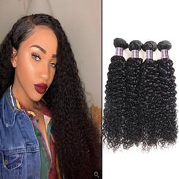 Discount water wave hair length - Indian Kinky Curly Human Hair Bundles 3 4 5pcs Peruvian Straight Human Hair Extensions Water Wave Loose Deep Wave Virgin