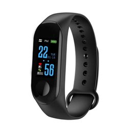 Plastic Red Heart Australia - M3 Smart Bracelet Fitness Tracker with Heart Rate Watches for MI 3 Fitbit XIAOMI APPLE Watch with Retail Box