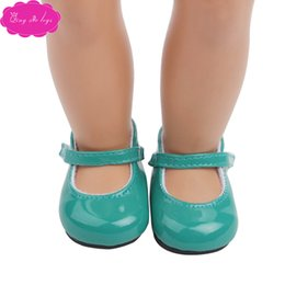 "american shoe wholesalers UK - 18 ""American doll shoes flat leather shoes manufacturer direct sales4"