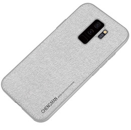 Textile Slim Fit UK - New for Samsung NOTE9 TPU fabric cloth case slim TPU silicone retro soft cell mobile phone case cover fashion textile