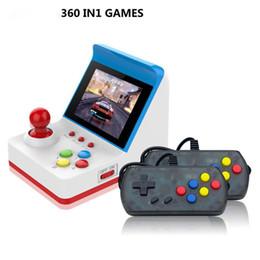 Vente en gros Mini 360 Retro FC Console de jeu Classique 3.0 Pouces 8 bits pouvant stocker 360 jeux Consoles de jeu portables MINI GAME ARCADE Protable Jeux Joueurs