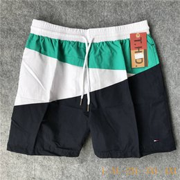 hot men beach swimwear 2019 - HOT Board Shorts Mens Summer Beach Shorts Pants High-quality Swimwear Vacation Surf Men Swim Flag Badge Shorts Pants dis