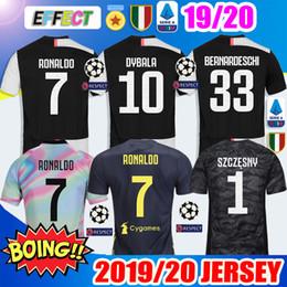 63b58ed9a New 2019 RONALDO JUVENTUS Soccer Jerseys 18 19 20 JUVE 2020 Home DYBALA  HIGUAIN BUFFON Camisetas Futbol Kids Kit Maillot Football Shirts