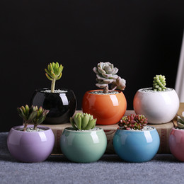 Green Glazed Ceramic Flower Pots Online Shopping | Green