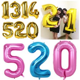 $enCountryForm.capitalKeyWord NZ - baloon big 40inch wedding Ballons Helium foil large number balloons 2019 big happy Birthday balloons giant Party balloon figures