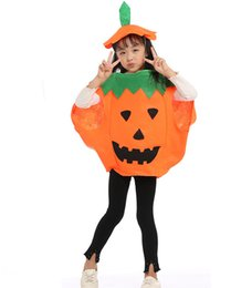 $enCountryForm.capitalKeyWord NZ - New arrival Pumpkin Cosplay Costume Clothing Squash For Party Children Halloween Role Playing Costumes 3set  Lot