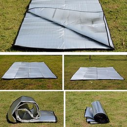 Wholesale Double Sided Foldable Waterproof Aluminum Foil Mat Portable Outdoor Travel Beach Mat Sleeping Mattress for Camping Hiking NEW