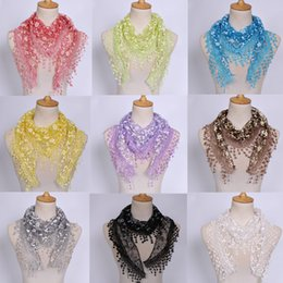 $enCountryForm.capitalKeyWord NZ - 2019 Brand New Scarves High Quality Fashion Women Lace Wraps Classic Spring and Summer Hollow Out Flowers Plain Triangle Scarf LSF099