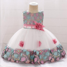 Big Bow Tulle Dress Australia - 2019 New Top Quality Lace Tulle Newborn Baby Girl Christening Gown Big Bow Infant Princess 1 Year Baptism Dress Birthday Clothes