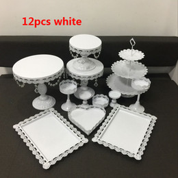 fairy cakes cupcakes Australia - 12pcs crystal cake decorating stand cupcake holder wedding cake centerpieces decor candy Dessert decor cupcake tray baby shower cake rack