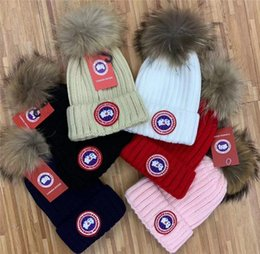 animal beanies fox Australia - TOP quality 20 brands choose Beanies Hats Knitted Real animal Fox Fur hair winter hat Autumn Winter brand Beanie hat men Knitted Skull Caps