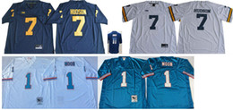 American Football Teams Australia - Michigan Wolverines #7 Khaleke Hudson Mens Vintage Atlanta 11 Julio Jones 1 Warren Moon College Stitched American Football Pro Team Jerseys