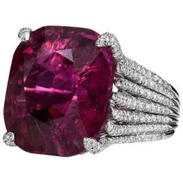 $enCountryForm.capitalKeyWord Australia - Princess Large Purple Stone Rings For Women Wedding Gift Ring Men Silver Rings Luxury Femme Mujer O3c118