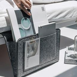 $enCountryForm.capitalKeyWord Australia - Felt Bedside Caddy Storage Bag- Bed Skirt Storage Pocket Organizer for Bedroom, College Dorm Room,Under Mattress Holder Bag