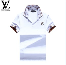 Wholesale branded printed polo online – design Summer Top Designer Leisure Deluxe T shirt Short Sleeve Cotton Polo Shirt Fashion Men s Polo T shirt Men s Brand T shirt