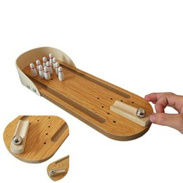 $enCountryForm.capitalKeyWord Australia - 5Set Anti-stress Entertainment Mini Desktop Bowling Game Set Wooden Family Fun Toy Funny Party Toys For Children Antistress AIJILE