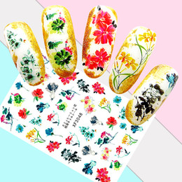 $enCountryForm.capitalKeyWord Australia - Diy Nail Art Decoration Manicure Chinese Ink Painting Nails Stickers Decal Cartoon Countryside Stickers For Nails Accessoires