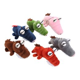 horse suit NZ - Plush Keychains 2019 Hot sale Backpack Accessories Cute Plush Toys Scrocodile Soft Stuffed Animals Dolls Gift 6 colors 6.17