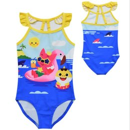 $enCountryForm.capitalKeyWord Australia - Kids Baby Shark Swimwear Baby Shark Bikini Cartoon Kids Swimsuits One-piece Bikini for Children Beach Bathing Suit Baby Beachwear 20pcs
