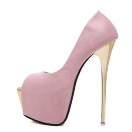 womens pink shoes heels UK - Women Pumps High Heels Womens Sexy Peep Toe Pumps Platform Shoes White Black Pink Wedding Party Shoes Size 34-45