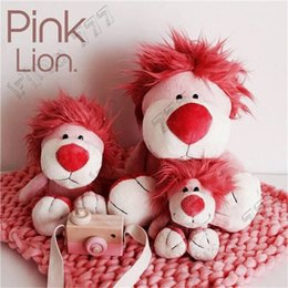 Nici toys wholesale online shopping - 30cm NICI cute pink lion home decoration cherry powder lion plush toy doll Decoration children plush gift