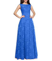$enCountryForm.capitalKeyWord UK - Hot Selling Bateau Neck Beach Evening Dresses Sleeveless Formal Gowns Boat Neck Real picture Lace Up Back Long Bridesmaid Dress