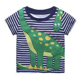 4t tshirt Australia - Baby Boy Tops Children T Shirts Kids Summer T-shirt Clothes Cotton Clothing Tee Dinosaur Tshirt