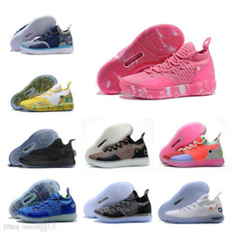 Discount kd shoes aunt pearls - 2019 New Kd 11 Aunt Pearl Pink Paranoid Cool Grey Eybl Kevin Durant Xi Mens Basketball Shoes Top 11s Kd11 Foam Sneakers